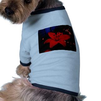 Red Lily Ringer Dog Shirt