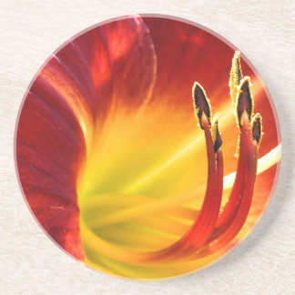 Red Lily Drink Coaster