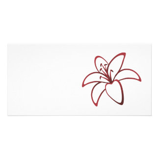 Red Lily Custom Photo Card