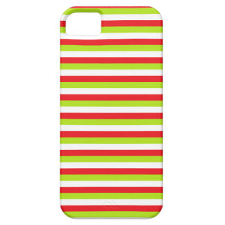 Red, Lime Green and White Stripes Case For The iPhone 5