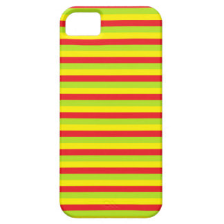 Red, Lime Green and Yellow Stripes iPhone 5 Cover