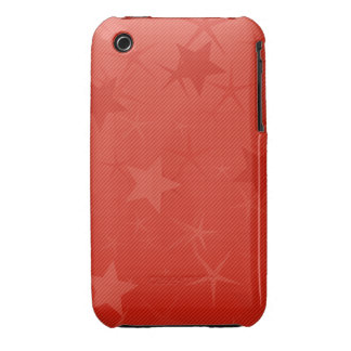 Red Lined Star Field Case-Mate iPhone 3 Case