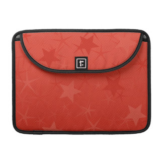 Red Lined Star Field Sleeve For MacBooks