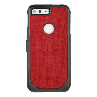 Red Linen Texture Photo Background OtterBox Commuter Google Pixel Case