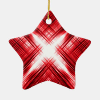 Red lines cross christmas ornament