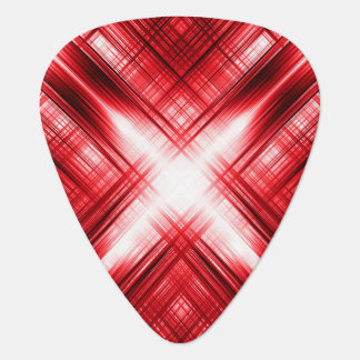 Red lines cross guitar pick