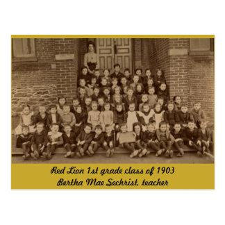 Red Lion 1st Grade Class of 1903 Postcard