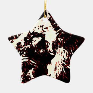 Red Lion Design Ceramic Star Decoration