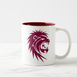 Red lion head mugs