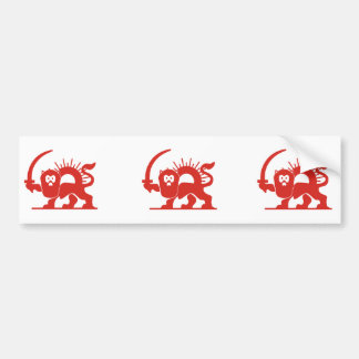 Red Lion with Sun, Iran Bumper Sticker
