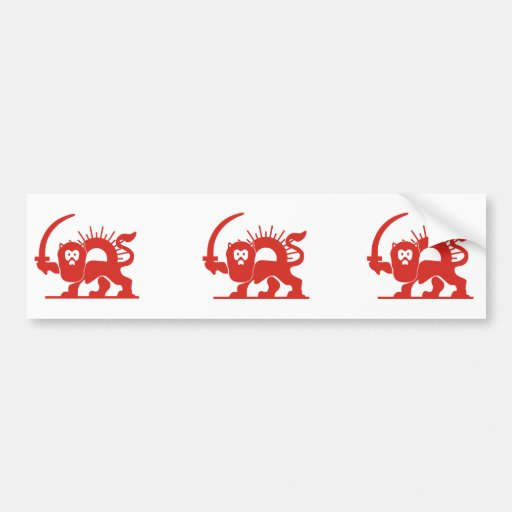 Red Lion with Sun, Iran Bumper Stickers