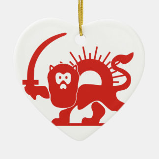 Red Lion With Sun, Iran Christmas Ornament