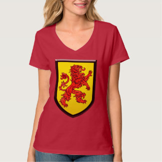 Red Lion Yellow Shield Black Borders Shirts