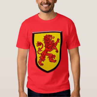 Red Lion Yellow Shield Black Edges T Shirt