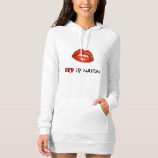 Red Lip Nation Dress Hoodie