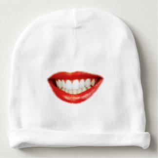 Red lips baby beanie