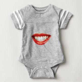 Red lips baby bodysuit
