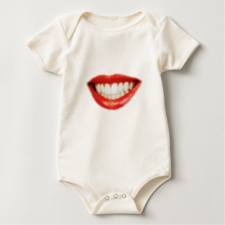 Red lips baby bodysuit