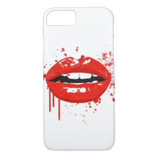 Red lips beauty fashion makeup kiss iPhone 8/7 case