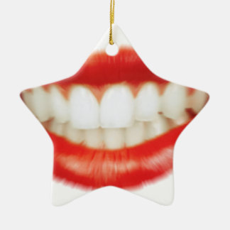 Red lips christmas ornament