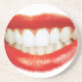Red lips coaster