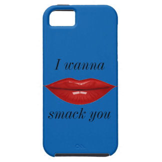 Red lips I wanna smack you iPhone 5 Covers