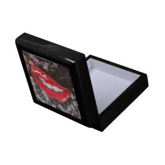 Red lips jewelry box
