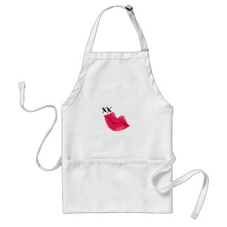 Red Lips Kiss Adult Apron