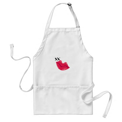 Red Lips Kiss Apron