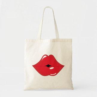Red Lips Kiss Girly Tote Tote Bag