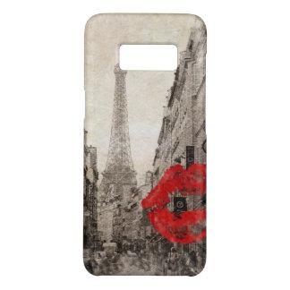 Red lips Kiss Shabby chic paris eiffel tower Case-Mate Samsung Galaxy S8 Case