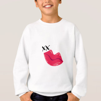 Red Lips Kiss Sweatshirt
