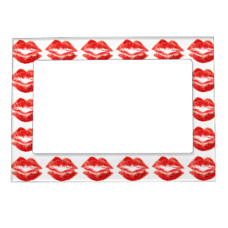 Red Lips Photo Frame Magnets