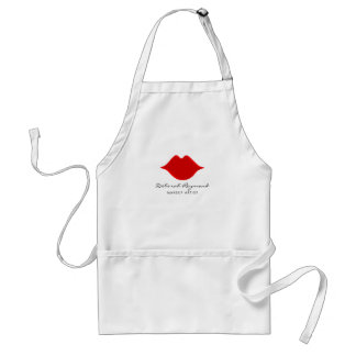 red lips makeup artist standard apron