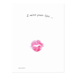 Red lips post card
