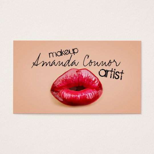 Red Lips Professional Makeup Artist Business Card