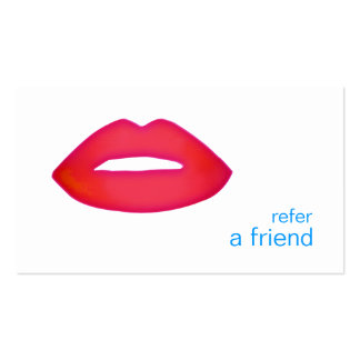 Red Lips Refer A Friend Coupon Salon Pack Of Standard Business Cards