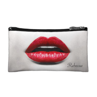 Red Lips Retro Monochrome Beauty Stylish Makeup Bag