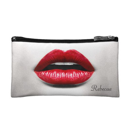Red Lips Retro Monochrome Beauty Stylish Makeup Bags