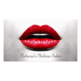 Red Lips Retro Monochrome - Makeup Artist Pack Of Standard Business Cards