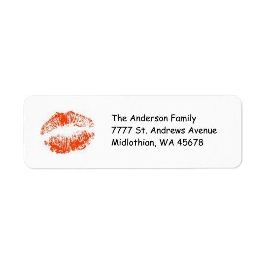 Red Lips Return Address Avery Label Return Address Label