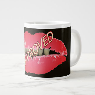 Red Lips Rotten Teeth Approved Neon Sign Dental Large Coffee Mug