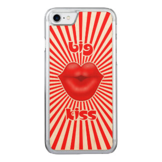 Red lips solar rays big kiss carved iPhone 8/7 case
