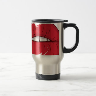 Red Lips Stainless Steel Travel Mug