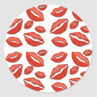 Red Lips Valentine's Day Stickers
