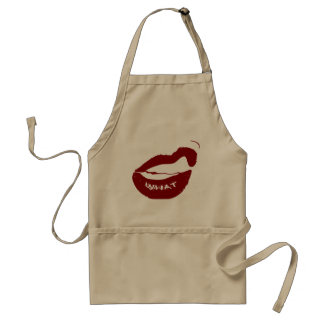 Red Lips What Grr grit teeth Aprons