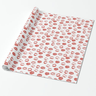 Red Lips Wrapping Paper