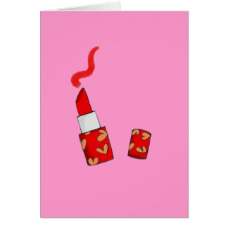 Red lipstick card
