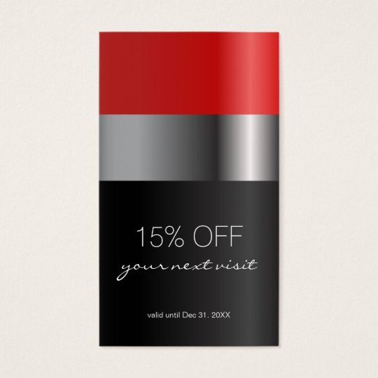 Red lipstick Discount Coupon Business Card