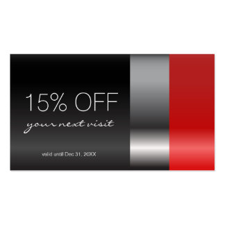 Red lipstick Discount Coupon Pack Of Standard Business Cards